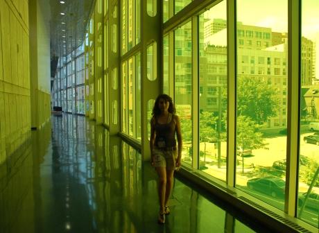 Un specific al palatului sint peretii exteriori din sticla colorata. Acestia sint spectaculosi si cind ii vezi din afara, dar in special prin interior.