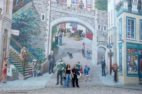 In piata cu fondatorii Quebec-ului