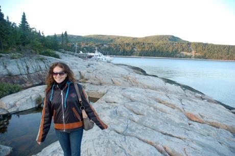 Pe stinci in Parc du Saguenay, rezervatia naturala din golful fluviului St Lawrence